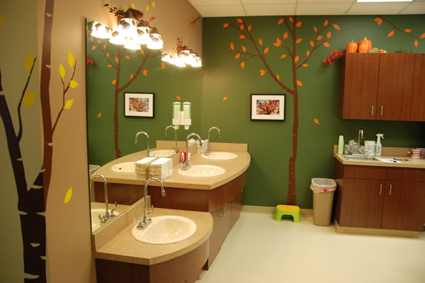 Walnut Creek Pediatric Dentistry teeth brushing area