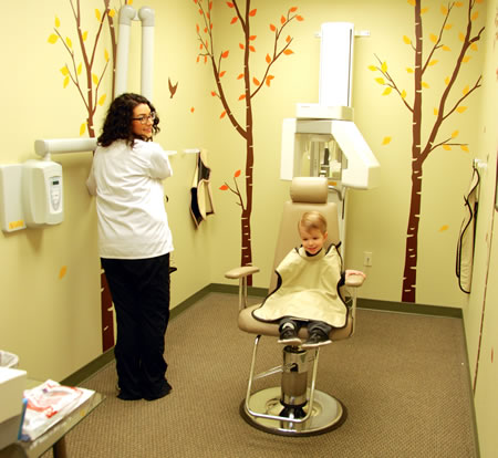 Getting x-rays at Walnut Creek Pediatric Dentistry