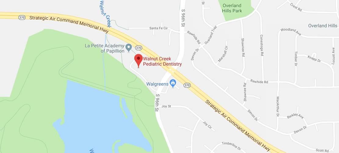 Map to Walnut Creek Pediatric Dentistry